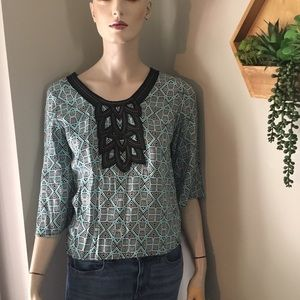 Geometric blouse from Francesca's